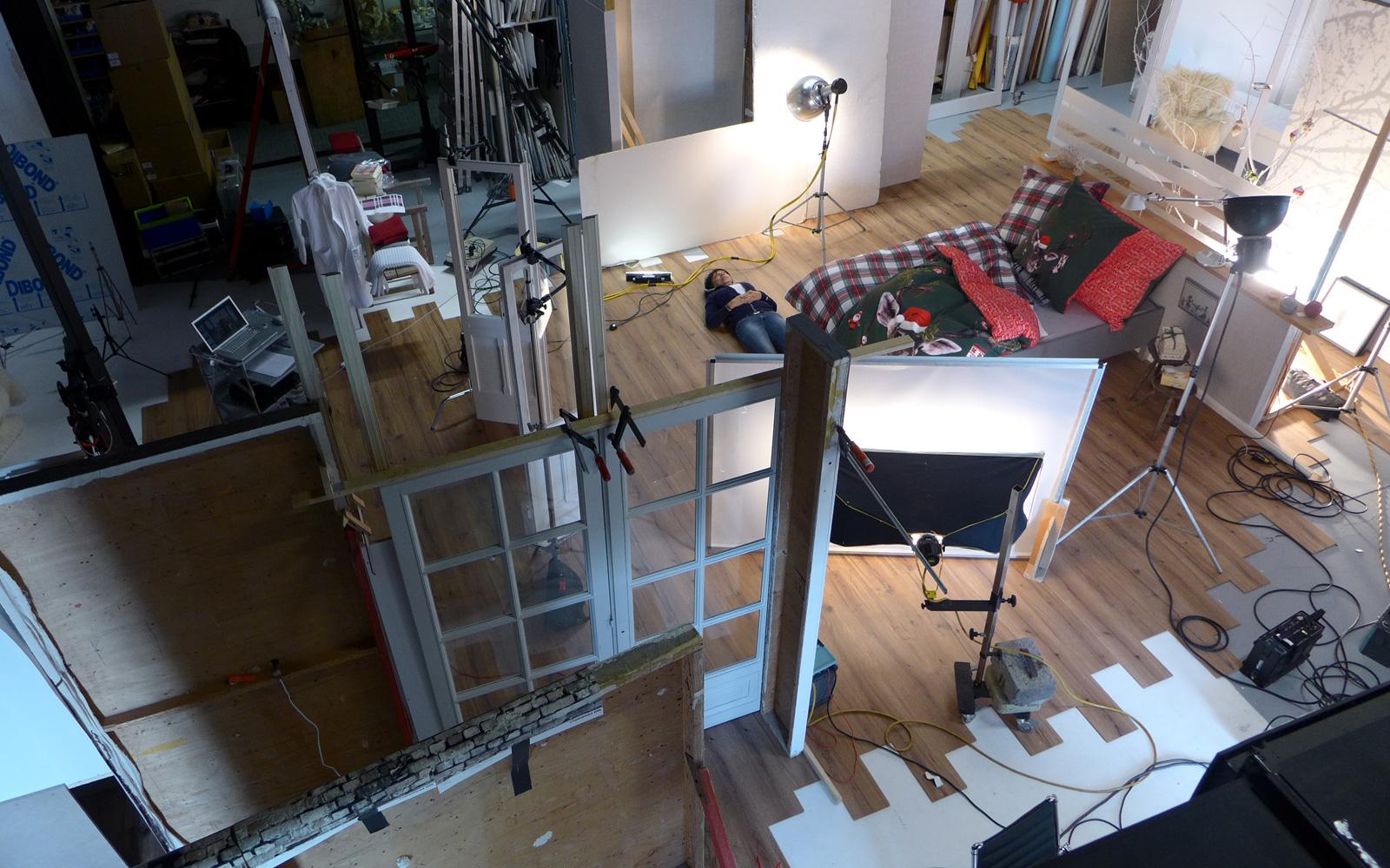 Victoria Huber inszenierte Fotografie Wohn-Ambiente Making of