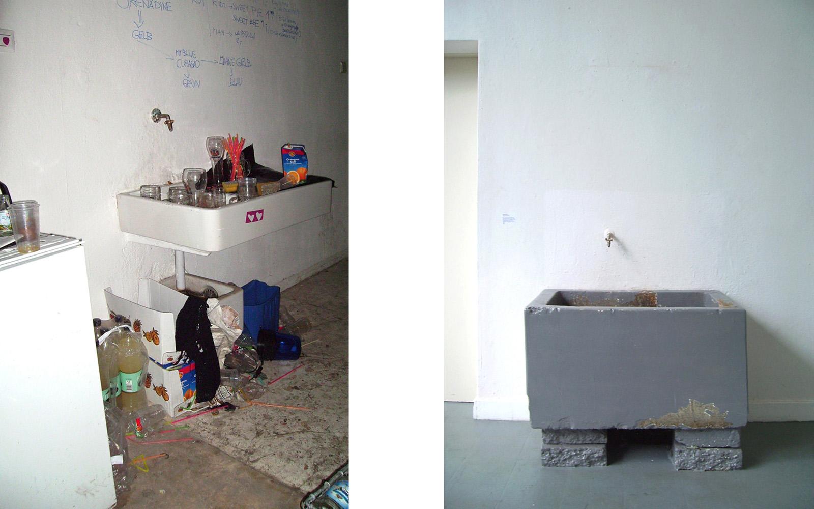 Victoria Huber Inszenierte Fotografie Bildband Kunstakademie Waschbecken