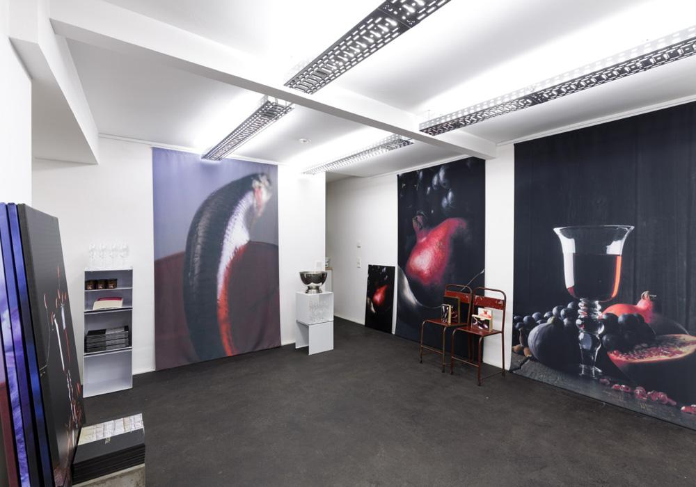 Ausstellungsraum mit den neuen Arbeiten